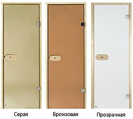 Варианты цветов стекланных дверей в парилку