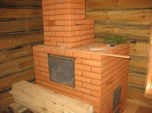 Кирпичная печь в бане сделанная своими руками