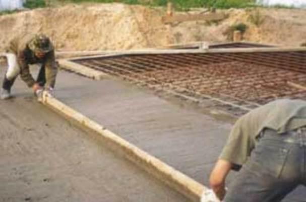 Выравнивание поверхности плитного фундамента протяжкой